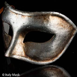 Venetian Mask Colombina Antique Silver