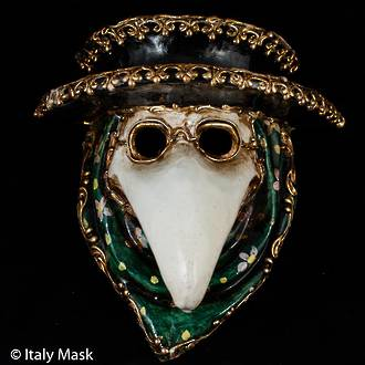 Venetian Masquerade Mask, The Doctor (with hat)