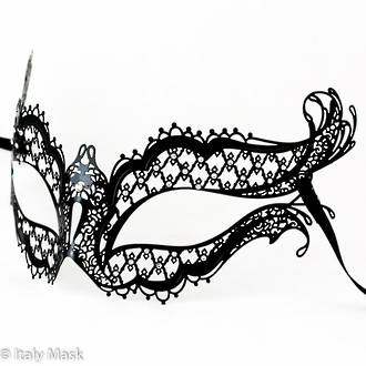 Filigree Masquerade Mask Mon Amour Black