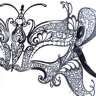 Venetian Filigree Masquerade Mask Colombina Lusso - Butterfly