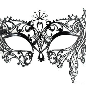 Venetian Filigree Mask Colombina Lusso Splendida