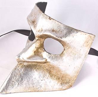 Venetian Masquerade Mask Bauta Silver
