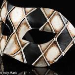 Venetian Masquerade Mask Colombina Rombi Silver