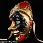 Venetian Masquerade Mask Volto Joker Scacchi