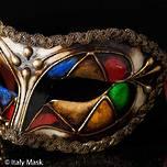Venetian Masquerade Mask Colombina Arlecchino