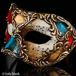 Venetian Masquerade Mask Colombina Scacchi