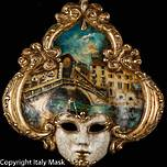Venice Wall Art - Venetian Mask Salome 4