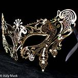Filigree Masquerade Mask  Splendida Gold