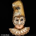 Venetian Masquerade Mask Pulcinella Large
