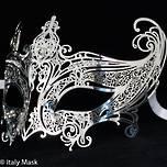Filigree Masquerade Mask Catwoman Silver