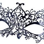 Venetian Filigree Masquerade Mask Colombina Lusso Ricciolina