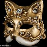 Baroque Gold Venetian Masquerade Cat Mask