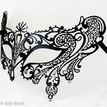 Filigree Masquerade Mask Splendida Black