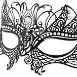 Venetian Masquerade Filigree Mask Colombina Lusso Tiziana