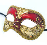 Venetian Masquerade Mask Colombina Vivian Music Red