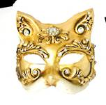 Gatto Baroque Gold Venetian Masquerade Mask
