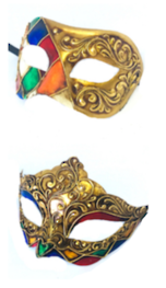 Venetian Masquerade Couples Masks- Colombina Ibiz