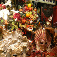 Masks in Venetian shop