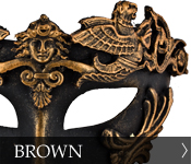 Venetian Masquerade Masks Color Brown