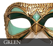 Venetian Masquerade Mask Color Green