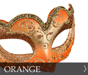 Venetian Masquerade Masks Color Orange