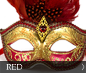 Venetian Masquerade Mask Color Red