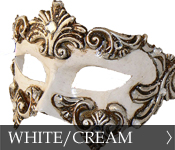 Venetian Masquerade Masks Color White - Cream