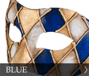 Click here to see our selection of blue Eye (Colombina) Masks!