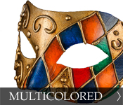 Click here to see our selection of multi-colored Eye (Colombina) Masks!