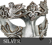 Click here to see our selection of silver Eye (Colombina) Masks!