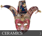 Decorative Venetian Masquerade Mask Ceramics