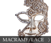 Decorative Venetian Masquerade Mask Macrame Lace