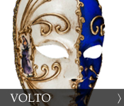 Decorative Venetian Masquerade Mask Volto