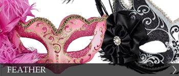 Venetian Masquerade Feather Masks