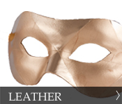 Venetian Masquerade Leather Masks