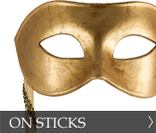 Venetian Masquerade Masks on stick